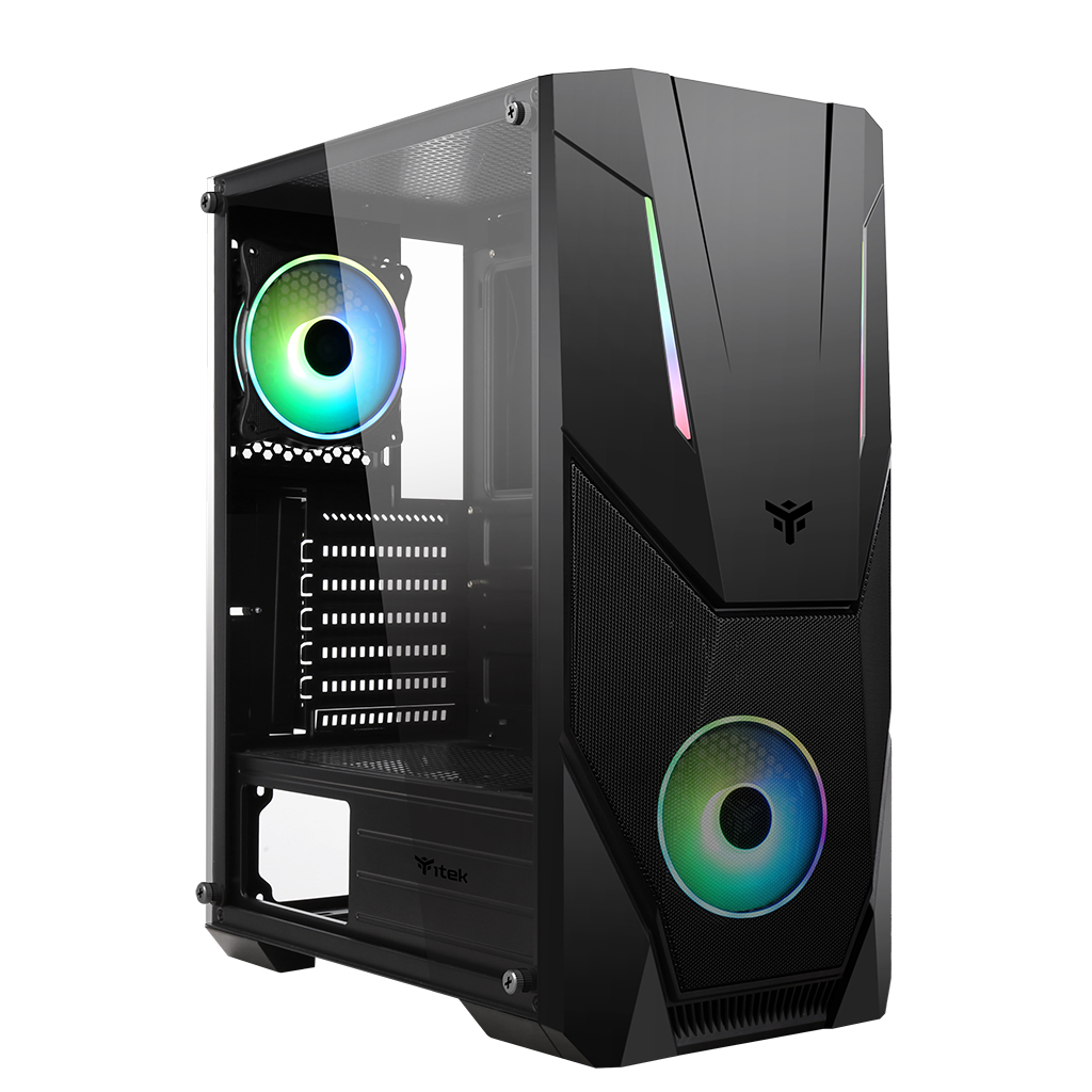 Case SPACIRC VO - Gaming Middle Tower, 2x12cm ARGB fan, USB3