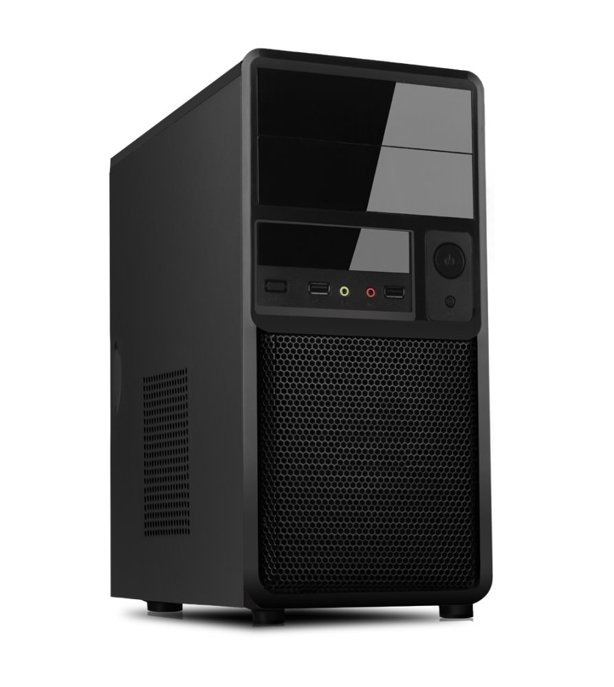 Case SPIDER Mini Tower mATX 500W USB3 Black Mesh