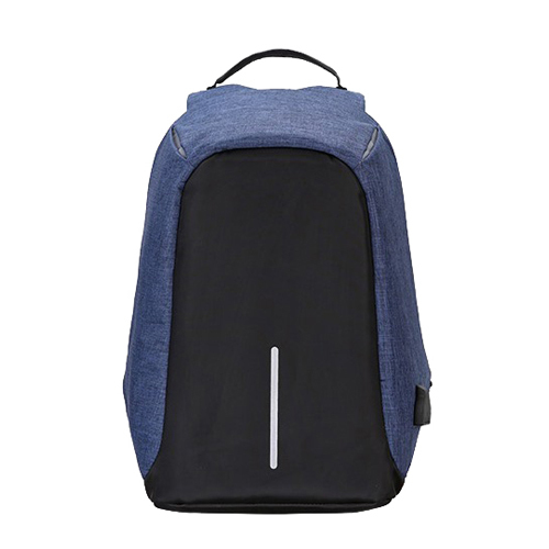 "Zaino per Notebook 15.6"" -  Tessuto anti graffio, waterproof, anti borseggio, presa USB, Nero Blu"