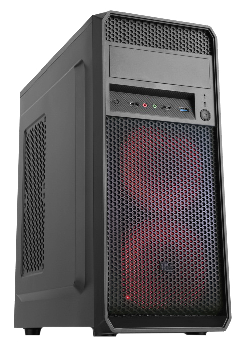 Case PRIME - Middle Tower, ATX, 500W, USB3.0, 2x12cm red fan