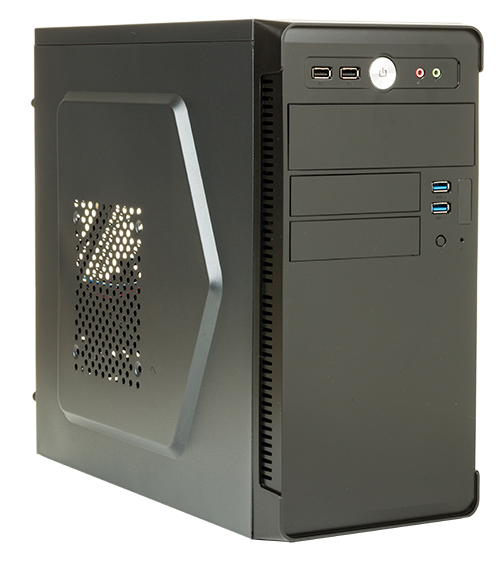Case RIVER - Mini Tower mATX 500W 2xUSB3 Full Black