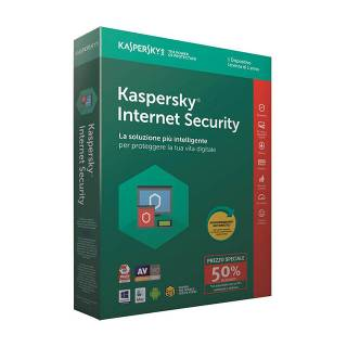 Kaspersky Internet Security 2018 Licenza per 1 Dispositivi per 1 Anno Versione 2018