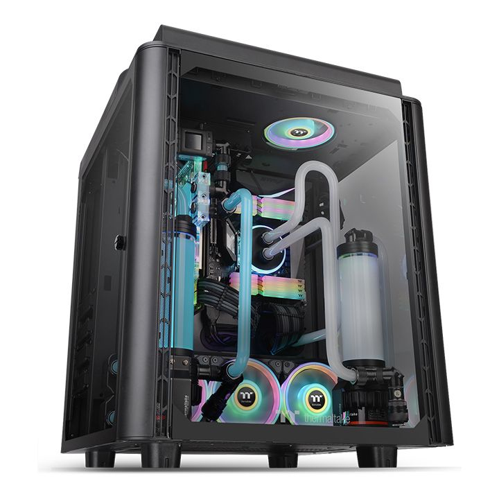 Thermaltake Case Middle Tower LEVEL 20 HT BLACK 4mm TG + 2 140MM FANS