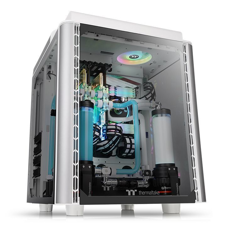 Thermaltake Case Middle Tower LEVEL 20 HT SNOW 4mm TG + 2 140MM FANS