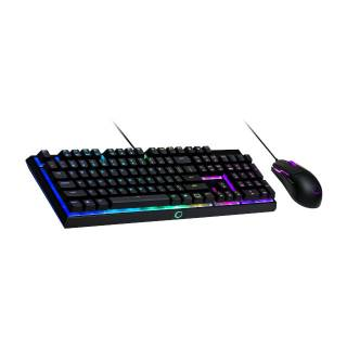 Cooler Master MS110 RGB Kit Tastiera Mem-Chanical e Mouse Ottico 3200DPI USB Layout IT Nero