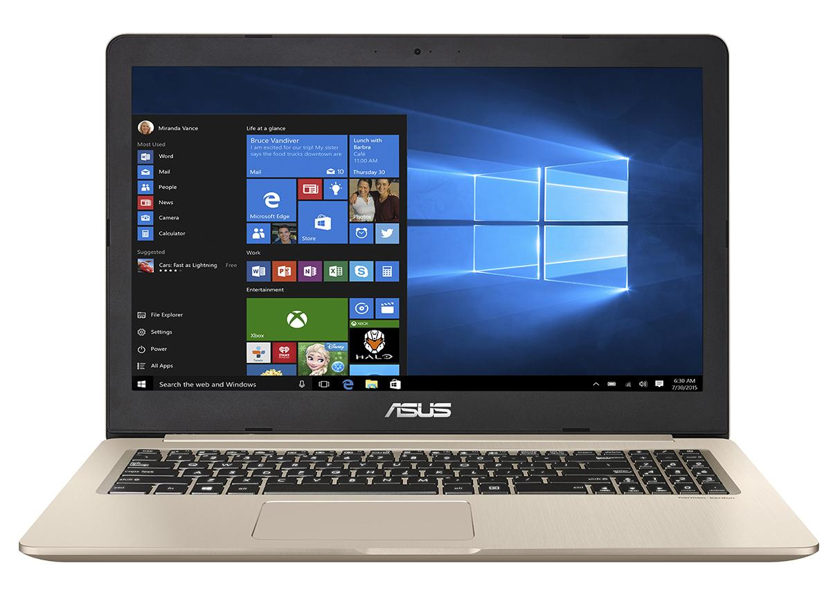 ASUS VivoBook Pro N580GD Intel Core i7-8750H 16GB GTX 1050 SSD 512GB HDD 1TB Win 10 Gold Metal