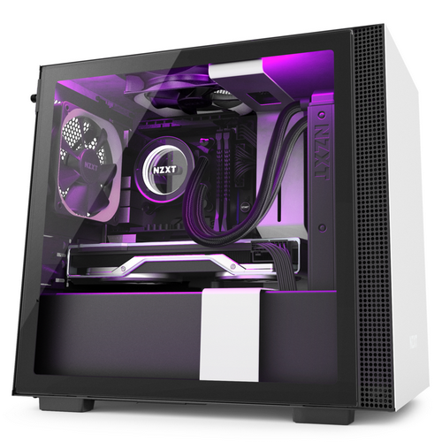 NZXT GAMING Case H210i-W1 MINI ITX NERO/BIANCO - 2*120 Aer F + 1 LED STRIP