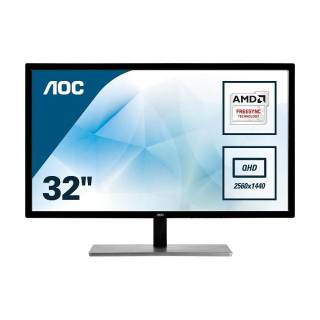 AOC Q3279VWFD8 Monitor 31.5 75Hz IPS QHD 5ms FreeSync VGA/DVI/HDMI/DP Grigio
