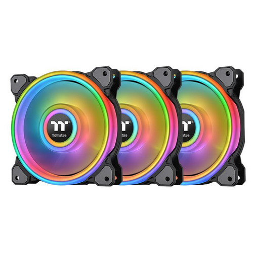 Thermaltake Ventola Case RIING QUAD 12cm RGB RADIATOR FAN 3 PACK CL-F088-PL
