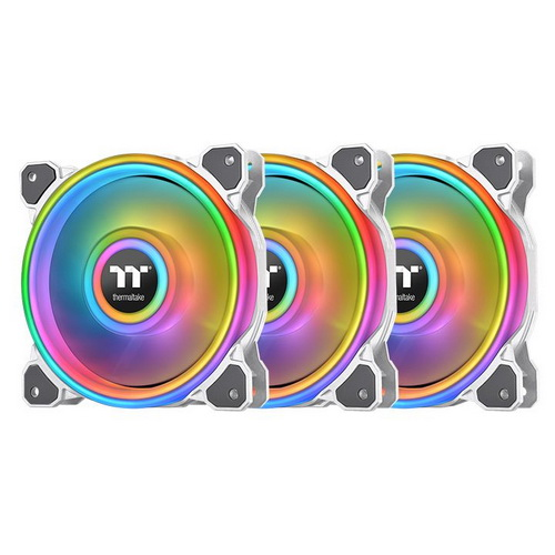 Thermaltake Ventola Case RIING QUAD 12cm RGB RADIATOR FAN 3 PACK WHITE CL-F
