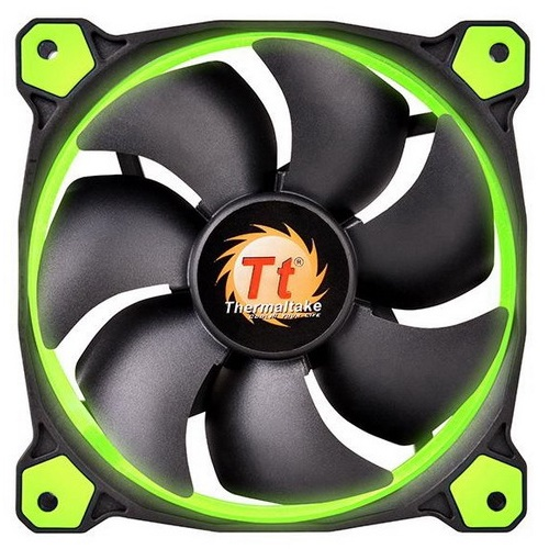 THERMALTAKE VENTOLA CASE RIING LED VERDE 140mm