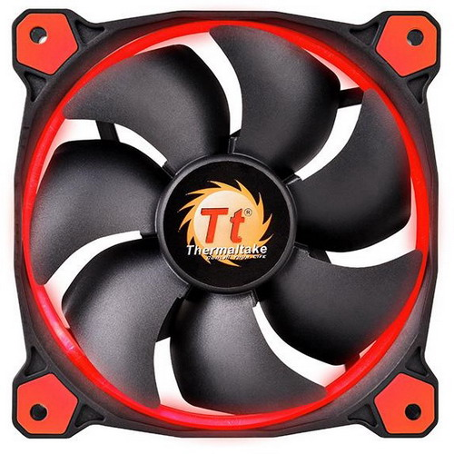 THERMALTAKE VENTOLA CASE RIING LED ROSSO 140mm