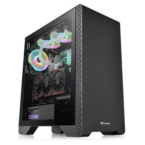 Thermaltake Case Middle Tower S300 BLACK TG Vetro Temperato 1*120mm CA-1P5-00M1WN-