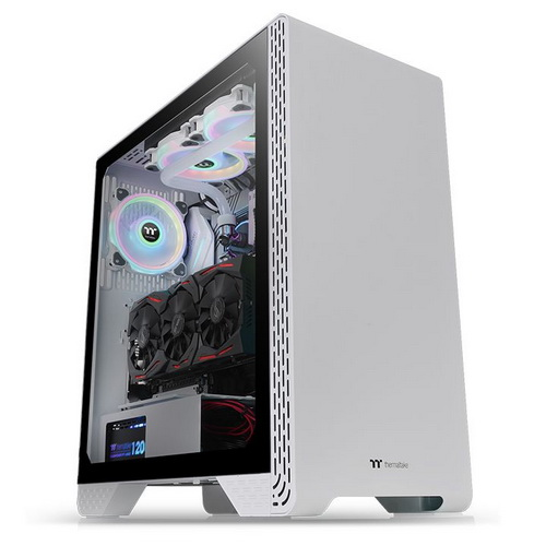 Thermaltake Case Middle Tower S300 SNOW TG Vetro Temperato 1*120mm CA-1P5-00M6WN-0