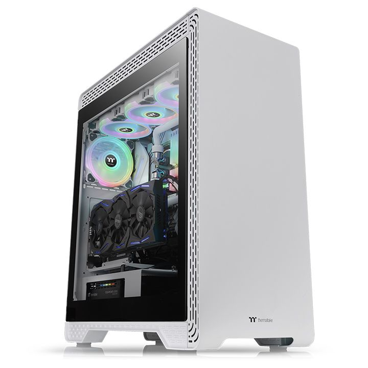 Thermaltake Case Middle Tower S500 TG SNOW 1*140+1*120mm FAN CA-1O3-00M6WN-00