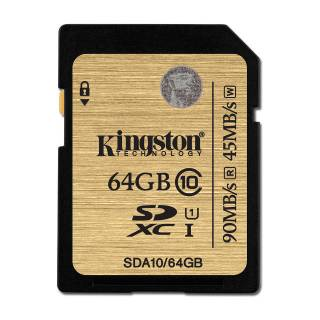 Kingston SDA10 64GB UHS UHS - I Ultimate 90 / 45MB / s Classe 10