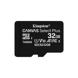 Kingston Canvas Select Plus 32GB MicroSDXC Classe 10 UHS-I 100 MB/s