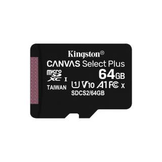 Kingston Canvas Select Plus 64GB MicroSDXC Classe 10 UHS-I 100/85 MB/s