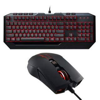CM Storm SGB - 3031 - KKMF1 Devastator II Kit tastiera  +  mouse 2.000 DPI LED Red tasti multimediali USB Layout IT