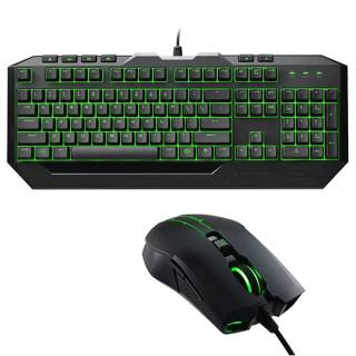 CM Storm SGB - 3032 - KKMF1 Devastator II Kit tastiera  +  mouse 2.000 DPI LED Verde tasti multimediali USB Layout IT
