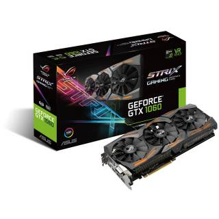 Asus GeForce ROG Strix GTX 1060 STRIX - GTX1060 - 6G - Gaming 6GB GDDR5 Aura RGB DVI / 2*HDMI / 29DP PCi Ex 3.0 16x