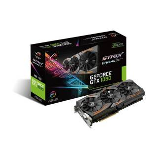 Asus GeForce ROG Strix GTX 1080 ROG STRIX - GTX1080 - 8G - Gaming 8GB GDDR5X Aura RGB DVi / 2*HDMI / 2*DP PCi Ex 3.0 16x