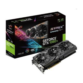Asus GeForce ROG Strix GTX 1080 Ti STRIX - GTX1080TI - O11G - Gaming 11GB GDDR5X Aura RGB DVI / 2*HDMI / 2*DP Pci Ex 3.0 16x