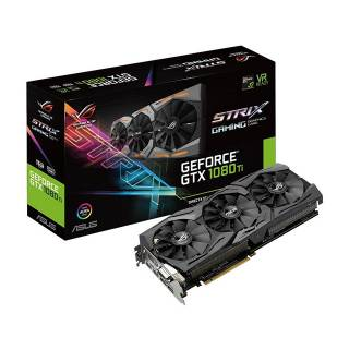 Asus GeForce ROG Strix GTX 1080 Ti STRIX - GTX1080TI - 11G - Gaming 11GB GDDR5X Aura RGB DVI / 2*HDMI / 2*DP Pci Ex 3.0 16x