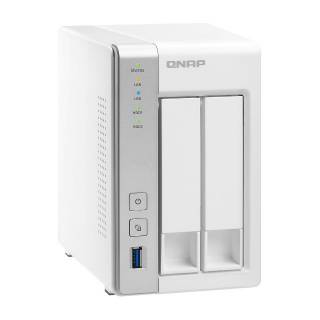 QNAP TS - 231P 2bay 3.5'' AL - 212 1.70GHz 1GB 2GLAN USB3.0 Bianco