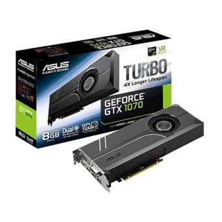 Asus GeForce Turbo GTX 1070 TURBO - GTX1070 - 8G 8GB GDDR5 DVI / 2*HDMI / 2*DP PCi Ex 3.0 16x