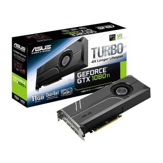 Asus GeForce Turbo GTX 1080 Ti TURBO - GTX1080TI - O11G 11GB GDDR5X 2*HDMI / 2*DP PCi Ex 3.0 16x