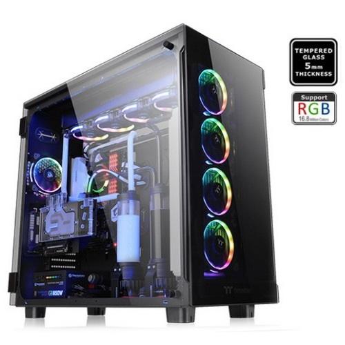 Thermaltake Case SUPER Tower VIEW 91 Vetro Temperato RGB ED. CA-1I9-00F1WN-