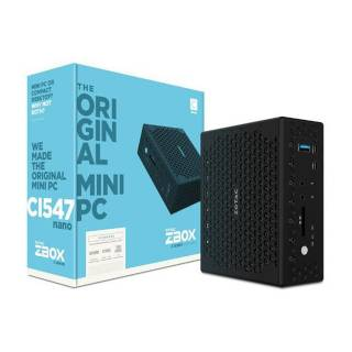 Zotac ZBOX-CI547NANO-BE Intel Core i5-7200U 2*SoDDR4 Intel HD Wi-Fi 2*GLAN 2*Type-C HDMI/DP No OS Nero
