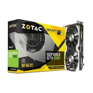 ZOTAC GeForce GTX 1060 6GB AMP! Edition ZT - P10600B - 10M Three DP  +  HDMI  +  DVI Scheda Video Gaming VR Ready