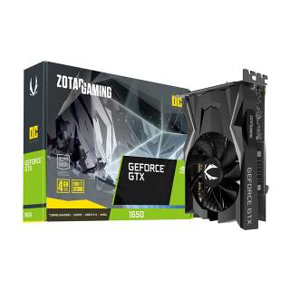 Zotac GeForce GTX 1650 OC 4GB GDDR5 DVI/HDMI/DP Scheda Video Gaming VR Ready